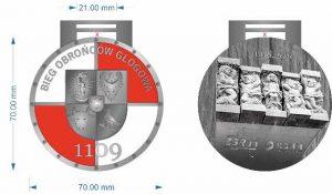 Medal 1.Biegu Obrońców Głogowa 1109